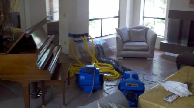 Water damage restoration in Irving by Power Flood Removal Structure Dry